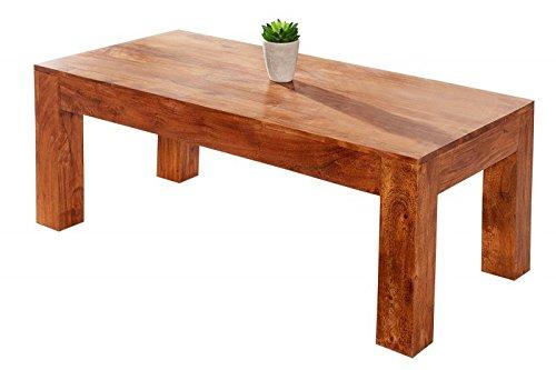 DuNord Design Couchtisch Sofatisch MULTAN 100cm Akazie Massiv Massivholz Holztisch Wohnzimmer