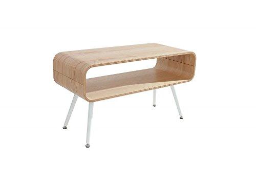 DuNord Design Couchtisch modern holz TV Board NEW RETRO 90cm Echtholzfurnier Retro Design Wohnzimmertisch