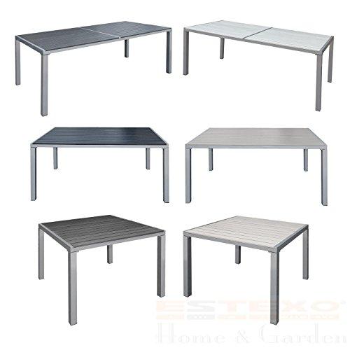 Gartentisch Alu WPC Terrassentisch Holzimitat Esstisch Gartenmöbel Tisch