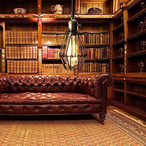kingso e27 hngelampe kronleuchter im kfig eisen lampenschirm mit fassung beleuchtung. Black Bedroom Furniture Sets. Home Design Ideas