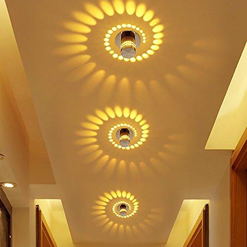 Korridor Deckenstrahler LED Ganglichter Oberfläche Montiert Effekt Licht Creative Deckenleuchte Wandleuchten für Badezimmer Restaurant Wohnzimmer Treppen Eingang Lampe (Gelb)