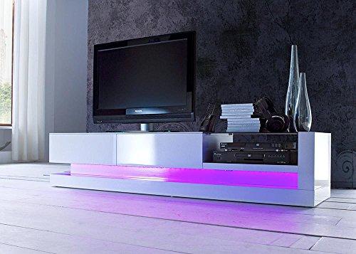 Lowboard TV Board Twist in MDF Weiß Hochglanz