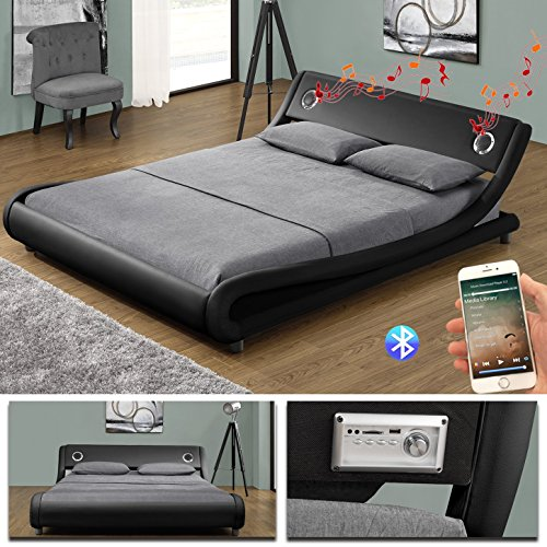 memphis bluetooth doppelbett polsterbett bettgestell bett lattenrost kunstleder m bel24. Black Bedroom Furniture Sets. Home Design Ideas