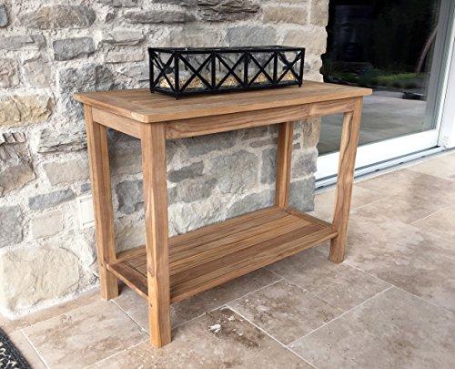 Teak Tisch 100x45x75cm Kaffeetisch Gartenmöbel Couchtisch Gartentisch