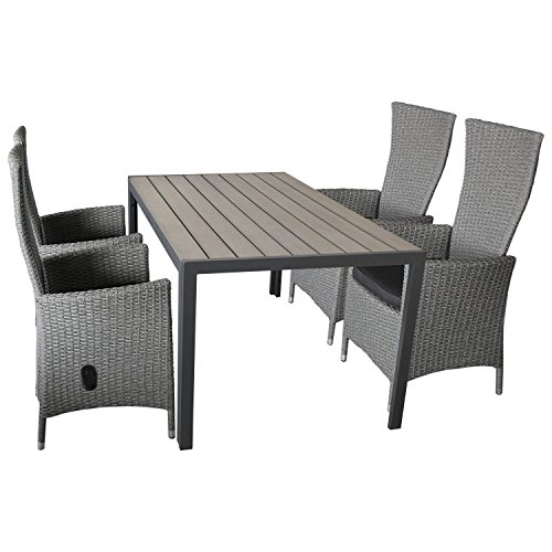 wohaga gartengarnitur 5 teilig sitzgarnitur sitzgruppe gartenm bel set gartentisch polywood. Black Bedroom Furniture Sets. Home Design Ideas