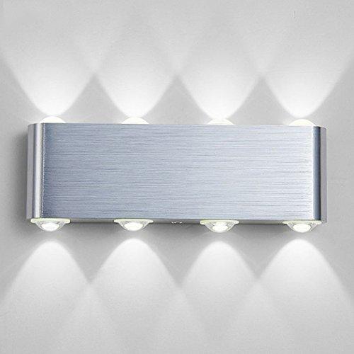 Wandleuchte LED Innen, PHOEWON 8W Modern LED Licht Wandlampe Aluminium Leuchten Wandlicht Oben Unten Lampen Spotlicht, Wandleuchte für Schlafzimmer, Wohnzimmer, Korridor