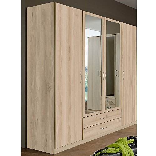 wimex kleiderschrank 019453 sprint edelbuche mit spiegel breite 180 cm m bel24. Black Bedroom Furniture Sets. Home Design Ideas