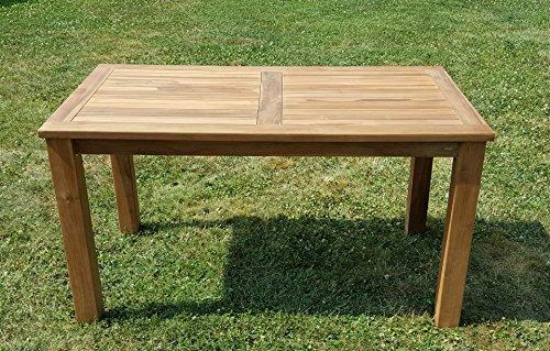 Wuchtiger TEAK BIGFOOT Gartentisch 140x80 Holztisch Teaktisch Garten Tisch Holz von AS-S