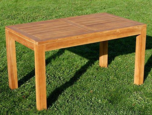 Wuchtiger echt TEAK BIGFOOT Design Gartentisch 140x80 Holztisch Teaktisch Garten Tisch Holz JAV-BIGFOOT von AS-S