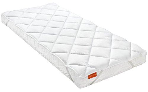 sleepling 190000027979-P Matratzenschoner Unterbett Komfort 100 mit 4 Eckgummis, weiß