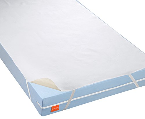 sleepling 191159-P Wasserundurchlässige Molton Matratzenauflage Inkontinenzauflage Basic 100 ca. 140 x 200 cm, weiß