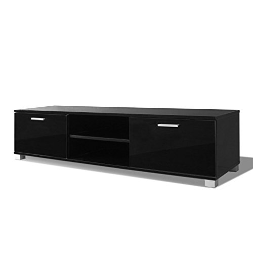vidaxl hochglanz fernsehtisch tv schrank lowboard sideboard unterschrank schwarz wei m bel24. Black Bedroom Furniture Sets. Home Design Ideas