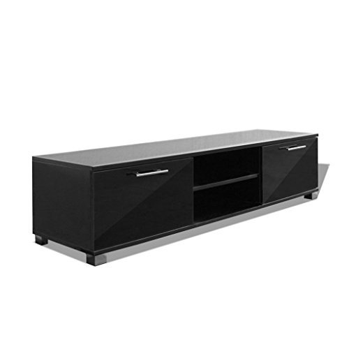 vidaxl hochglanz tv schrank fernsehtisch lowboard sideboard unterschrank wei schwarz m bel24. Black Bedroom Furniture Sets. Home Design Ideas