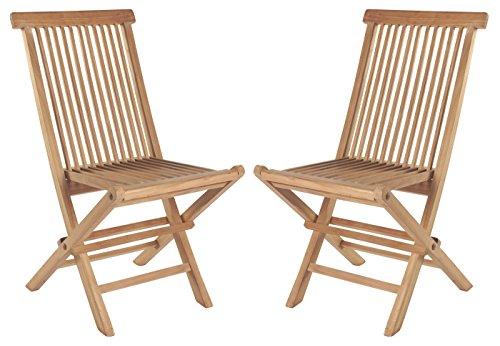 2er Set Klappstühle Teak Gartenstühle Holz Campingstühle Klappstuhl Stuhl Balkon