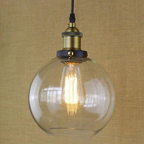 BAYCHEER E27 Hängeleuchte Glas Lampenschirm Kronleuchter Pendelleuchte