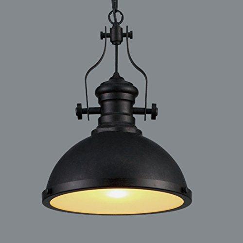 BAYCHEER Hängeleuchte Industrielampe E27 Pendelleuchte Esszimmer Lampe Wohnzimmer Kronleuchter mit Glas Deckung