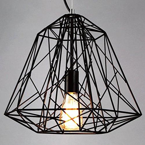 BAYCHEER Industrie Pendellampe mit Schirm Metallgestell Kronleuchter Hängeleuchter