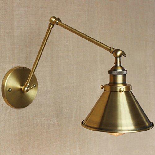 BAYCHEER Messing Wandleuchte Wandlampe Hängelampe Deckenlampe Pendelleuchte Metall E27 Fassung für Wandelgang Arbeitszimmer Schlafzimmer Kinderzimmer