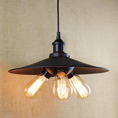 BAYCHEER Retro Pendelleuchte Hängelampe Industrie Kronleuchter Deckenlampe Untersetzer für E27 Lampe
