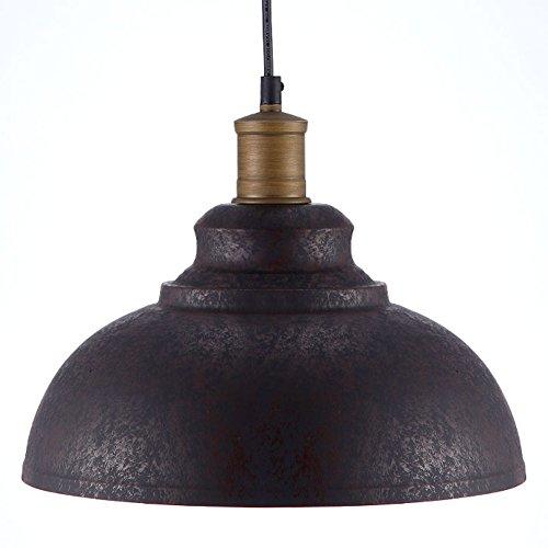 BAYCHEER Vintage Pendelleuchte in Rostbraun E27 Einflammige Höhenverstellbar