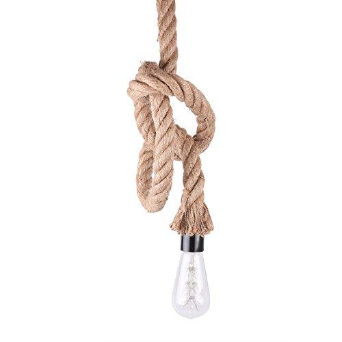 BAYCHEER Vintage Seil Industrielampe Kronleuchter Deckenleuchten LED Lampenfassung für Edison Nostalgie Glühlampe E26 / E27 Hängeleuchte