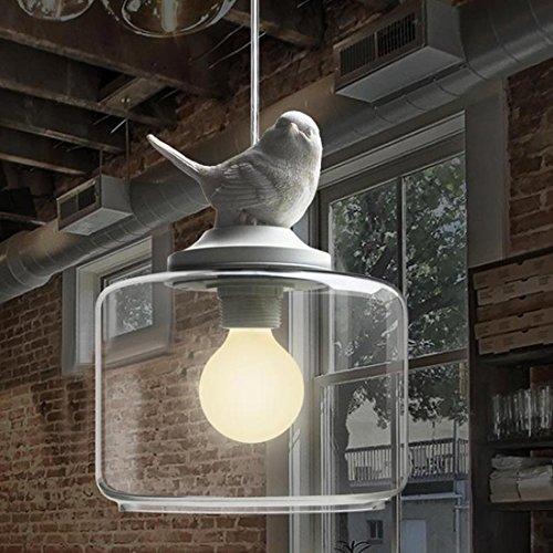 BAYCHEER Vogel Hängeleuchte Industrielampe E27 Pendelleuchte Esszimmer Lampe Wohnzimmer Kronleuchter Modern in Weiß