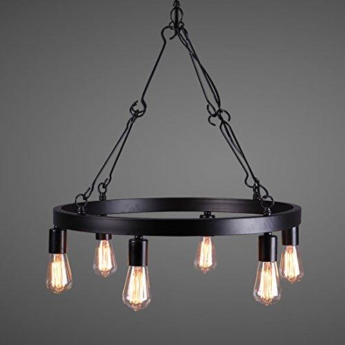 BAYCHEER Wohnzimmer Lampe Retrolampe Esszimmer lampe Hängelampe Kronleuchter Pendelleuchte Vintage lampe mit 6 Fassung