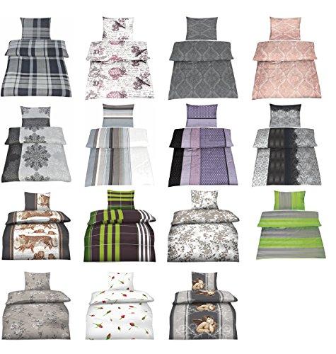 baumwolle biber bettw sche mit rei verschluss in verschiedenen gr en und 15 designs m bel24. Black Bedroom Furniture Sets. Home Design Ideas