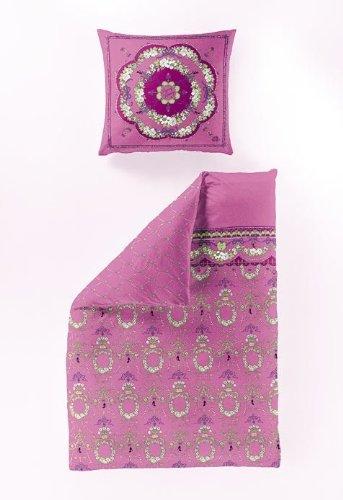 Bierbaum 6395_01 Renforce Bettwäsche Dessin, 135 x 200 cm, 80 x 80 cm, pink