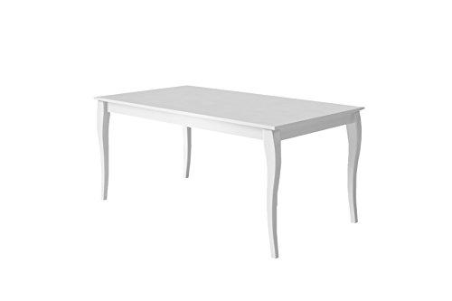 CAVADORE Matilda Tisch, MDF, Weiß, 160 x 90 x 75 cm