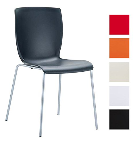 CLP Aluminium Garten-Stuhl MIO, Kunststoff Sitz, XXL 160 kg max. Belastbarkeit, Balkonstuhl Bistrostuhl stapelbar