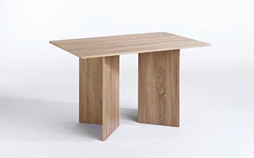Cavadore 80780 Tisch Angle / Moderner Esstisch in weißer Optik mit Melamin-Tischplatte / Resistent gegen Schmutz / 140 x 75 x 75 cm (L x B x H)