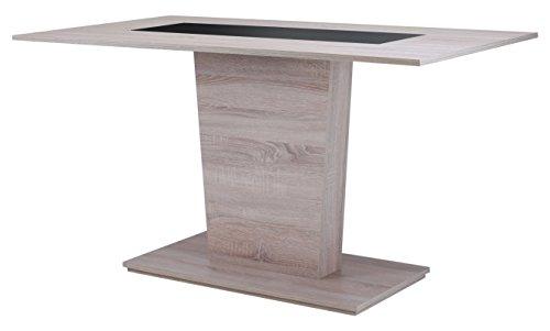 Cavadore 82023 Säulentisch Holz Melamin Eiche