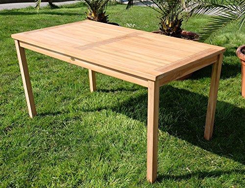 ECHT TEAK Gartentische Holztisch Tisch in verschiedenen größen Serie: ALPEN von AS-S