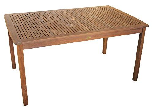 Echt Teak Tisch Gartentisch Teaktisch geölt 150 x 90 x 75 cm
