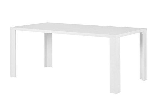 Esstisch 180x90cm Küchentisch Esszimmer Wohnzimmer Küche Tisch Hochglanz weiß
