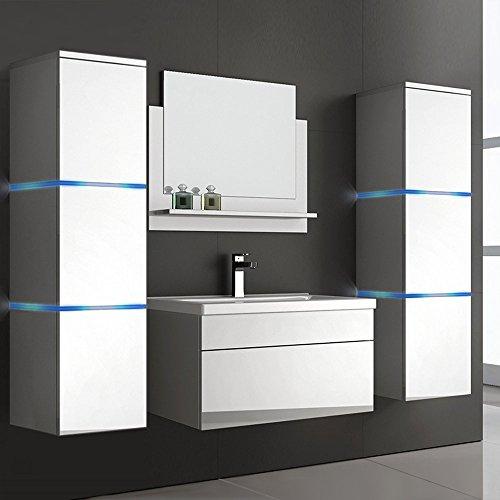 Home Deluxe   Badmöbel-Set   Wangerooge weiß   inkl. Waschbecken und komplettem Zubehör   verschiedene Größen