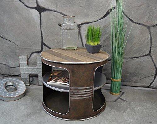 livitat couchtisch beistelltisch wei metall lfass vintage industrie look loft shabby m bel24. Black Bedroom Furniture Sets. Home Design Ideas