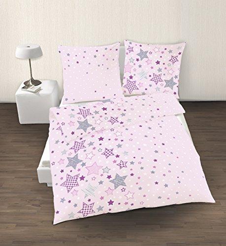 sterne fein biber m dchen bettw sche stars sterne. Black Bedroom Furniture Sets. Home Design Ideas