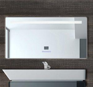 M bel24 led multimedia badspiegel mit beleuchtung touch for Badspiegel mit radio