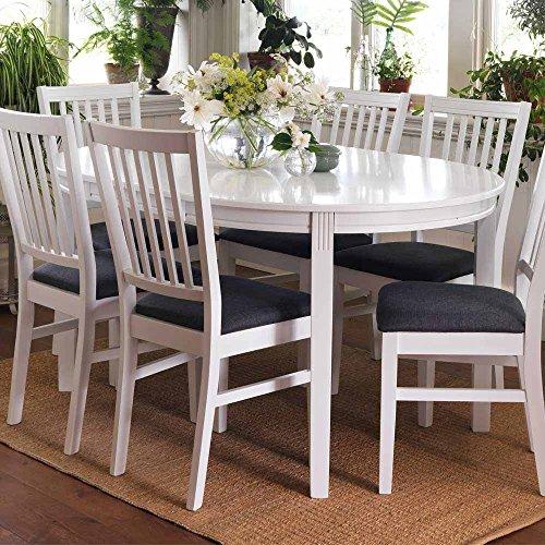 Ovaler Esstisch in Weiß ausziehbar Pharao24