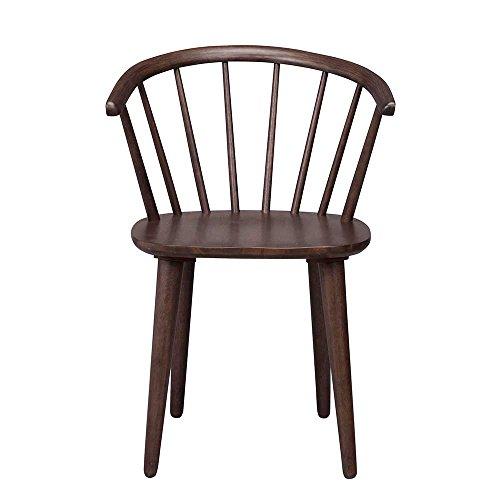 Retro Stuhl in Walnussfarben Holz massiv (2er Set) Pharao24