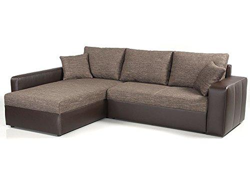 Ecksofa Vida 244x174cm braun Couch Sofa Wohnlandschaft Polsterecke Schlafsofa Schlafcouch