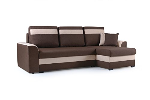 kleines ecksofa sofa eckcouch mit schlaffunktion und zwei bettkasten ottomane l form schlafsofa. Black Bedroom Furniture Sets. Home Design Ideas