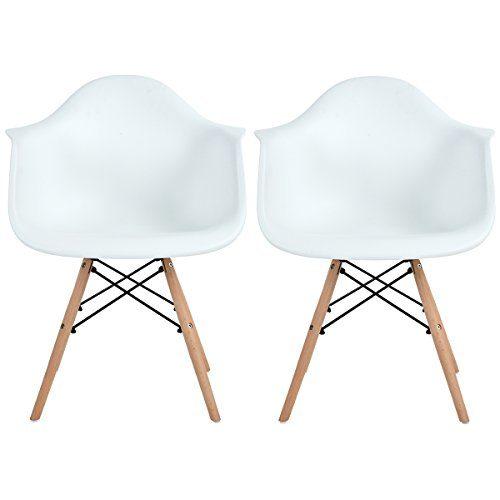 EGGREE Esszimmerstuhl Retro Stuhl Beistelltisch mit solide Buchenholz Bein