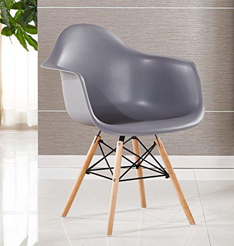 P & N Homewares® Moda Wanne Stuhl Kunststoff Retro Esszimmer Stühle weiß schwarz grau rot gelb grün