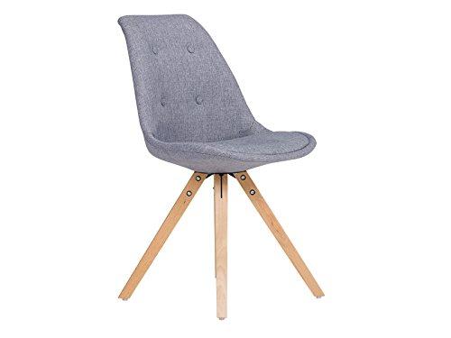 massivum California Set 2x Stuhl, Stoff, grau, 53 x 49 x 83 cm