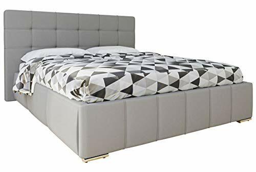 Mirjan24 Polsterbett Tailor mit Rollrost, Doppellbett, Kunstleder, 3 Größen, Farbauswahl, Stillvolles Bett (160x200 cm, Soft 020)