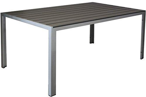 Kynast Aluminium Gartentisch 150 x 90 cm Anthrazit- Silber