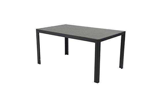 Pure Home & Garden Aluminium Gartentisch Fire Oblong mit Polywood Tischplatte, 100x70 cm absolut wetterfest, anthrazit aus dem Hause
